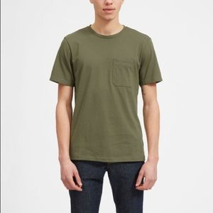 Ever lame Pocket Tee In Olive Green